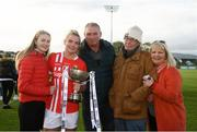 16 June 2019; Saoirse Noonan of Cork poses for a photo with her family, from left, sister Aoibhe, father Peter, grandfather Noel O'Callaghan and mother Deidre following the TG4 Ladies Football Munster Senior Football Championship Final match between Cork and Waterford at Fraher Field in Dungarvan, Co. Waterford. Photo by Harry Murphy/Sportsfile