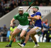 16 June 2019; Cian Lynch of Limerick in action against Brendan Maher of Tipperary during the Munster GAA Hurling Senior Championship Round 5 match between Tipperary and Limerick at Semple Stadium in Thurles, Tipperary. Photo by Ray McManus/Sportsfile