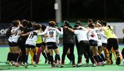 16 June 2019; The Korean players celebrate after the FIH World Hockey Series Final match between Ireland and Korea at Banbridge Hockey Club in Banbridge, Down.  Photo by Oliver McVeigh/Sportsfile