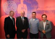 17 June 2019; Uachtarán Chumann Lúthcleas Gael John Horan, second from left, with from left, former RTÉgaelic games commentator Michéal O Muircheartaigh, Oisin McConville, former Armagh player and RTÉ gaelic games panelist and RTÉ gaelic games correspondent Marty Morrissey at the opening of the new exhibition in the GAA Museum 'Tuning In – From Wireless to WiFi' at Croke Park in Dublin. Photo by Eóin Noonan/Sportsfile