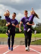 16 June 2019; In attendance at the launch of the Irish Life Health Festival of Running, are from left, Tara, Rob, Cathal and Regan Heffernan. Organised by Athletics Ireland, the event will bring the elite and every-day runner together in a celebration of running and athletics on Sunday 28th of July at Morton Stadium Santry. Photo by Brendan Moran/Sportsfile