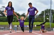 16 June 2019; In attendance at the launch of the Irish Life Health Festival of Running are Marian and Rob Heffernan with their daughters Tara and Regan. Organised by Athletics Ireland, the event will bring the elite and every-day runner together in a celebration of running and athletics on Sunday 28th of July at Morton Stadium Santry. Photo by Brendan Moran/Sportsfile