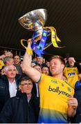 16 June 2019; Niall Daly of Roscommon lifts the trophy following his side's victory during the Connacht GAA Football Senior Championship Final match between Galway and Roscommon at Pearse Stadium in Galway. Photo by Seb Daly/Sportsfile