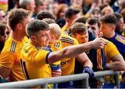 16 June 2019; Cathal Cregg of Roscommon celebrates following his side's victory during the Connacht GAA Football Senior Championship Final match between Galway and Roscommon at Pearse Stadium in Galway. Photo by Seb Daly/Sportsfile