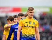 16 June 2019; Enda Smith of Roscommon leads his side during the parade prior to the Connacht GAA Football Senior Championship Final match between Galway and Roscommon at Pearse Stadium in Galway. Photo by Seb Daly/Sportsfile