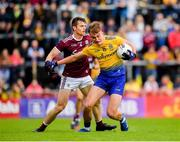 16 June 2019; Enda Smith of Roscommon in action against Liam Silke of Galway during the Connacht GAA Football Senior Championship Final match between Galway and Roscommon at Pearse Stadium in Galway. Photo by Seb Daly/Sportsfile