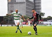 14 June 2019; Daniel Mandroiu of Bohemians in action against Ethan Boyle of Shamrock Rovers during the SSE Airtricity League Premier Division match between Bohemians and Shamrock Rovers at Dalymount Park in Dublin. Photo by Seb Daly/Sportsfile