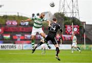 14 June 2019; Ethan Boyle of Shamrock Rovers in action against Conor Levingston of Bohemians during the SSE Airtricity League Premier Division match between Bohemians and Shamrock Rovers at Dalymount Park in Dublin. Photo by Seb Daly/Sportsfile