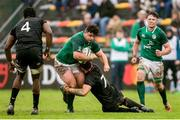 17 June 2019; Michael Milne of Ireland is tackled by Aaron Hinkley of England during the World Rugby U20 Championship Fifth Place Play-off Semi-final match between Ireland and England at Club De Rugby Ateneo Inmaculada in Santa Fe, Argentina. Photo by Florencia Tan Jun/Sportsfile