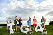 17 June 2019; Mary-Rose Kelly of Wexford, Máire O'Shaughnessy of Meath, Fiona Claffey of Westmeath, Sinéad Goldrick of Dublin, Nuala Mohan of Carlow and Kate Flood of Louth pictured at the Leinster LGFA Captain and Managers night ahead of the 2019 Leinster Ladies Senior, Intermediate and Junior Championship Finals, which will be played at Netwatch Cullen Park, Carlow, on June 30. Leinster LGFA will stream the Junior and Intermediate Finals, while the LGFA will stream the Senior Final. Managers and players from the participating counties were in attendance at Castleknock Golf Club in Castleknock, Co. Dublin. Photo by Harry Murphy/Sportsfile