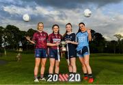 17 June 2019; Fiona Claffey of Westmeath, U14's Milltown and Westmeath footballer Kelly Burke, U14's St Vincents and Dublin footballer Isabelle Dunne, and Sinéad Goldrick of Dublin pictured at the Leinster LGFA Captain and Managers night ahead of the 2019 Leinster Ladies Senior, Intermediate and Junior Championship Finals, which will be played at Netwatch Cullen Park, Carlow, on June 30. Leinster LGFA will stream the Junior and Intermediate Finals, while the LGFA will stream the Senior Final. Managers and players from the participating counties were in attendance at Castleknock Golf Club in Castleknock, Co. Dublin. Photo by Harry Murphy/Sportsfile