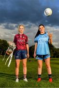 17 June 2019; Fiona Claffey of Westmeath and Sinéad Goldrick of Dublin pictured at the Leinster LGFA Captain and Managers night ahead of the 2019 Leinster Ladies Senior, Intermediate and Junior Championship Finals, which will be played at Netwatch Cullen Park, Carlow, on June 30. Leinster LGFA will stream the Junior and Intermediate Finals, while the LGFA will stream the Senior Final. Managers and players from the participating counties were in attendance at Castleknock Golf Club in Castleknock, Co. Dublin. Photo by Harry Murphy/Sportsfile