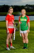 17 June 2019; Kate Flood of Louth and Nuala Mohan of Carlow pictured at the Leinster LGFA Captain and Managers night ahead of the 2019 Leinster Ladies Senior, Intermediate and Junior Championship Finals, which will be played at Netwatch Cullen Park, Carlow, on June 30. Leinster LGFA will stream the Junior and Intermediate Finals, while the LGFA will stream the Senior Final. Managers and players from the participating counties were in attendance at Castleknock Golf Club in Castleknock, Co. Dublin. Photo by Harry Murphy/Sportsfile