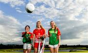 17 June 2019; U14's St Andrew's and Carlow footballer Emer Lillis, Kate Flood of Louth and Nuala Mohan of Carlow pictured at the Leinster LGFA Captain and Managers night ahead of the 2019 Leinster Ladies Senior, Intermediate and Junior Championship Finals, which will be played at Netwatch Cullen Park, Carlow, on June 30. Leinster LGFA will stream the Junior and Intermediate Finals, while the LGFA will stream the Senior Final. Managers and players from the participating counties were in attendance at Castleknock Golf Club in Castleknock, Co. Dublin. Photo by Harry Murphy/Sportsfile