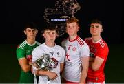 18 June 2019; In attendance at the launch of the EirGrid GAA Football U20 All-Ireland Championship are from left, Tommy Conroy of Mayo, Darragh Ryan of Kildare, Ruairi Gormley of Tyrone and Peter O'Driscoll of Cork. EirGrid, the state-owned company that manages and develops Ireland's electricity grid, have partnered with the GAA since 2015 as sponsors of the U20 GAA Football All-Ireland Championship. Photo by Eóin Noonan/Sportsfile