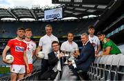 18 June 2019; In attendance at the launch of the EirGrid GAA Football U20 All-Ireland Championship are from left, Peter O'Driscoll of Cork, Ruairi Gormley of Tyrone, Galway U20 manager Padraic Joyce, Ard Stiúrthóir of the GAA Tom Ryan, Cork U20 selector Colm O'Neill, Mark Foley, Chief Executive Officer at EirGrid, Darragh Ryan of Kildare and Ruairi Gormley of Mayo. EirGrid, the state-owned company that manages and develops Ireland's electricity grid, have partnered with the GAA since 2015 as sponsors of the U20 GAA Football All-Ireland Championship. Photo by Eóin Noonan/Sportsfile