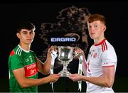 18 June 2019; In attendance at the launch of the EirGrid GAA Football U20 All-Ireland Championship is Tommy Conroy of Mayo and Ruairi Gormley of Tyrone. EirGrid, the state-owned company that manages and develops Ireland's electricity grid, have partnered with the GAA since 2015 as sponsors of the U20 GAA Football All-Ireland Championship. Photo by Eóin Noonan/Sportsfile