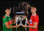 18 June 2019; In attendance at the launch of the EirGrid GAA Football U20 All-Ireland Championship is Tommy Conroy of Mayo and Peter O'Driscoll of Cork. EirGrid, the state-owned company that manages and develops Ireland's electricity grid, have partnered with the GAA since 2015 as sponsors of the U20 GAA Football All-Ireland Championship. Photo by Eóin Noonan/Sportsfile