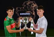 18 June 2019; In attendance at the launch of the EirGrid GAA Football U20 All-Ireland Championship is Tommy Conroy of Mayo and Darragh Ryan of Kildare. EirGrid, the state-owned company that manages and develops Ireland's electricity grid, have partnered with the GAA since 2015 as sponsors of the U20 GAA Football All-Ireland Championship. Photo by Eóin Noonan/Sportsfile