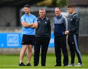 15 June 2019; Dublin manager Mattie Kenny, second right, with David Treacy, selector Greg Kennedy and Cian O'Callaghan ahead of the Leinster GAA Hurling Senior Championship Round 5 match between Dublin and Galway at Parnell Park in Dublin. Photo by Ramsey Cardy/Sportsfile