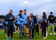 15 June 2019; Chris Crummey of Dublin is congratulated by supporters following the Leinster GAA Hurling Senior Championship Round 5 match between Dublin and Galway at Parnell Park in Dublin. Photo by Ramsey Cardy/Sportsfile