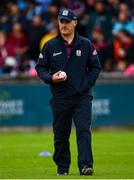 15 June 2019; Galway manager Mícheál Donoghue ahead of the Leinster GAA Hurling Senior Championship Round 5 match between Dublin and Galway at Parnell Park in Dublin. Photo by Ramsey Cardy/Sportsfile
