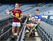 19 June 2019; Joe McDonagh Cup finalists Paddy Purcell of Laois, right, and Aonghus Clarke of Westmeath during a Joe McDonagh Cup, Christy Ring, Nicky Rackard & Lory Meagher Cup Final media event at Croke Park in Dublin. Photo by Matt Browne/Sportsfile