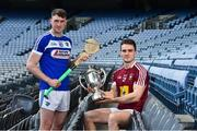 19 June 2019; Joe McDonagh Cup finalists Paddy Purcell of Laois, left, and Aonghus Clarke of Westmeath during a Joe McDonagh Cup, Christy Ring, Nicky Rackard & Lory Meagher Cup Final media event at Croke Park in Dublin. Photo by Matt Browne/Sportsfile