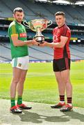 19 June 2019; Christy Ring Cup finalists Sean Geraghty of Meath, left, and Caolan Taggart of Down during a Joe McDonagh Cup, Christy Ring, Nicky Rackard & Lory Meagher Cup Final media event at Croke Park in Dublin. Photo by Matt Browne/Sportsfile