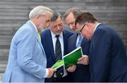 21 June 2019; In attendance at the Launch of Governance Review Group report are, from left, Sport Ireland Chairperson Kieran Mulvey, FAI President Donal Conway, Governance Review Group Chairperson Aidan Horan and FAI Communications Director Cathal Dervan at the Football Association of Ireland, National Sports Campus in Abbotstown, Dublin. Photo by Sam Barnes/Sportsfile