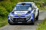 21 June 2019; Merion Evans and Jonathan Jackson in their Hyundai i20 R5  on SS 2 Grianan during Day 1 of the 2019 Joule Donegal International Rally in Letterkenny, Donegal. Photo by Philip Fitzpatrick/Sportsfile