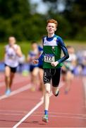22 June 2019; Aaron Shorten of St Laserian's Carlow, on his way to winning the Boys 800m  event during the Irish Life Health Tailteann Inter-provincial Games at Santry in Dublin. Photo by Sam Barnes/Sportsfile