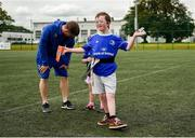 22 June 2019; Ahead of the start of the first ever Bank of Ireland Leinster Rugby Inclusion Camps on the 2nd July in Terenure RFC, the final training session for camp coaches was held in UCD today by Leinster Rugby Spirit Officer, Stephen Gore and Ken Moore, Summer Camp Co-ordinator. Also taking part in the training session were children and parents involved with the Down Syndrome Centre, one of Leinster Rugby's charity partners. The Bank of Ireland Leinster Rugby Inclusion Camps provide children with all disabilities aged between six and 15, a fun-filled three days of rugby during the summer holidays. The camps will take place in Terenure, Greystones, Navan, Tullamore and Newbridge and are focused on adapting rugby to meet the needs of camp-goers to maximise enjoyment and learning to play the Leinster Way. Further information is available at: https://www.leinsterrugby.ie/camps/inclusion-camps. Pictured is Joe Connolly, aged10, during the training session. Photo by Daire Brennan/Sportsfile