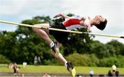 22 June 2019; Tom Poulter of Slemish Integrated Ballymena, Co. Antrim, competing in the Boys High Jump event during the Irish Life Health Tailteann Inter-provincial Games at Santry in Dublin. Photo by Sam Barnes/Sportsfile