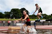 22 June 2019; Sarah Brady of St Clares Manorhamilton, Co. Leitrim, competing in the Girls 1500m Steeplechase event during the Irish Life Health Tailteann Inter-provincial Games at Santry in Dublin. Photo by Sam Barnes/Sportsfile