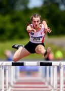 22 June 2019; Naimh Noonan of Abbey VS Co. Donegal, right, on her way to winning the 80m Hurdles event during the Irish Life Health Tailteann Inter-provincial Games at Santry in Dublin. Photo by Sam Barnes/Sportsfile
