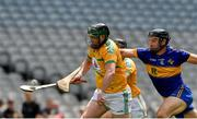 22 June 2019; Clement Cunniffe of Leitrim in action against Greg Jacob and Colm Doherty of Lancashire during the Lory Meagher Cup Final match between Leitrim and Lancashire at Croke Park in Dublin.  Photo by Matt Browne/Sportsfile