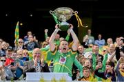 22 June 2019; Leitrim captain Declan Molloy celebrates with the cup after the Lory Meagher Cup Final match between Leitrim and Lancashire at Croke Park in Dublin.  Photo by Matt Browne/Sportsfile