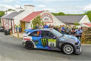 22 June 2019; Ken Block and Alex Gelsomino in their Escort Cosworth on SS 8 Glen during Day 2 of the 2019 Joule Donegal International Rally in Letterkenny, Donegal. Photo by Philip Fitzpatrick/Sportsfile