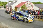 22 June 2019; Alastair Fisher and Gordon Noble in their Ford Fiesta R5 on SS 8 Glen during Day 2 of the 2019 Joule Donegal International Rally in Letterkenny, Donegal. Photo by Philip Fitzpatrick/Sportsfile
