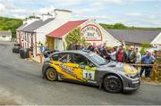 22 June 2019; Cathan McCourt and Barry McNulty in their Subaru Impreza WRC on SS 8 Glen during Day 2 of the 2019 Joule Donegal International Rally in Letterkenny, Donegal. Photo by Philip Fitzpatrick/Sportsfile