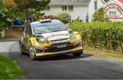 22 June 2019; Sam Moffett and James Fulton in their Ford Fiesta WRC on SS 10 Glen during Day 2 of the 2019 Joule Donegal International Rally in Letterkenny, Donegal. Photo by Philip Fitzpatrick/Sportsfile