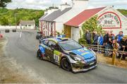 22 June 2019; Joesph McGonigle and Ciaran Geaney in their Ford Fiesta WRC on SS  8 Glen during Day 2 of the 2019 Joule Donegal International Rally in Letterkenny, Donegal. Photo by Philip Fitzpatrick/Sportsfile