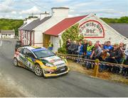 22 June 2019; Sam Moffett and James Fulton in their Ford Fiesta WRC on SS 8 Glen during Day 2 of the 2019 Joule Donegal International Rally in Letterkenny, Donegal. Photo by Philip Fitzpatrick/Sportsfile