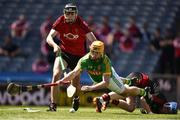 22 June 2019; Alan Douglas of Meath in action against Tom Murray and Stephen Keith of Down during the Christy Ring Cup Final match between Down and Meath at Croke Park in Dublin.  Photo by Matt Browne/Sportsfile