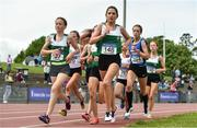 22 June 2019; Eimear Maher of Mount Anville, Co. Dublin, competing in the Girls 1500m event during the Irish Life Health Tailteann Inter-provincial Games at Santry in Dublin. Photo by Sam Barnes/Sportsfile