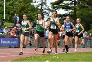22 June 2019; A general view of the field during the Girls 1500m event during the Irish Life Health Tailteann Inter-provincial Games at Santry in Dublin. Photo by Sam Barnes/Sportsfile