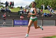 22 June 2019; Ava O'Connor of Scoil Chriost Ri Portlaois, Co. Laois, on her way to winning the Girls 1500m event  during the Irish Life Health Tailteann Inter-provincial Games at Santry in Dublin. Photo by Sam Barnes/Sportsfile