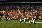 22 June 2019; Leitrim players celebrate after the Lory Meagher Cup Final match between Leitrim and Lancashire at Croke Park in Dublin.  Photo by Matt Browne/Sportsfile