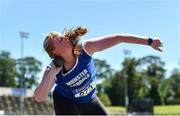22 June 2019; Ciara Sheehy of St. Mary's Charleville, Co. Cork, competing in the Girls Shot Put event during the Irish Life Health Tailteann Inter-provincial Games at Santry in Dublin. Photo by Sam Barnes/Sportsfile